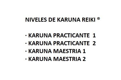 NIVELES DE KARUNA REIKI